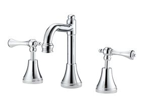 Kado Classic English Basin Set Fixed Outlet Lever Chrome (5 Star)