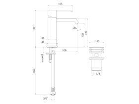 Teknobili Solido Basin Mixer Chrome (6 Star)