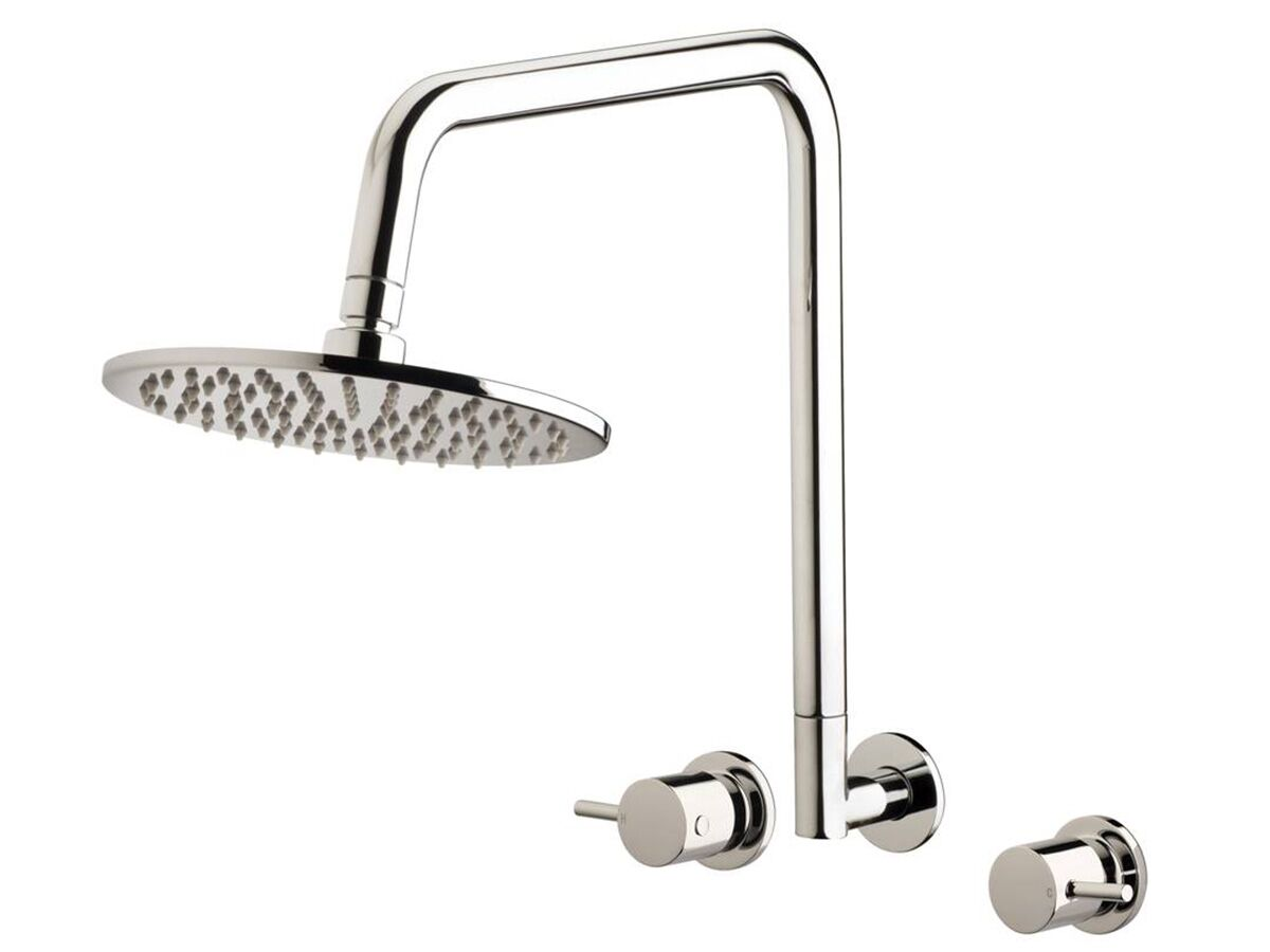 Mizu Drift Gooseneck Shower Set 200mm Chrome (3 Star)