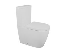 Kado Lux Close Coupled Back to Wall Overheight Back Inlet Toilet Suite with Soft Close Quick Release Seat White (4 Star)