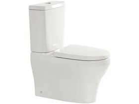 American Standard Cygnet Close Coupled Back to Wall Back Inlet Toilet Suite with a Soft Close Quick Release White Seat (4 Star)