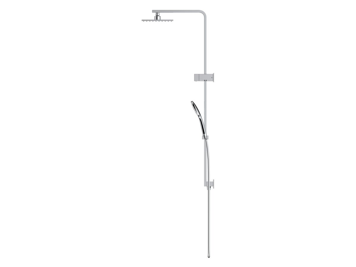 Mizu Bloc MK2 Twin Waterrail 200mm ABS Overhead Chrome (3 Star)
