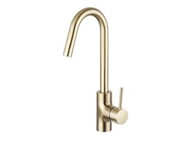 Mizu Drift MK2 Gooseneck Sink Mixer Tap Brushed Gold (4 Star)