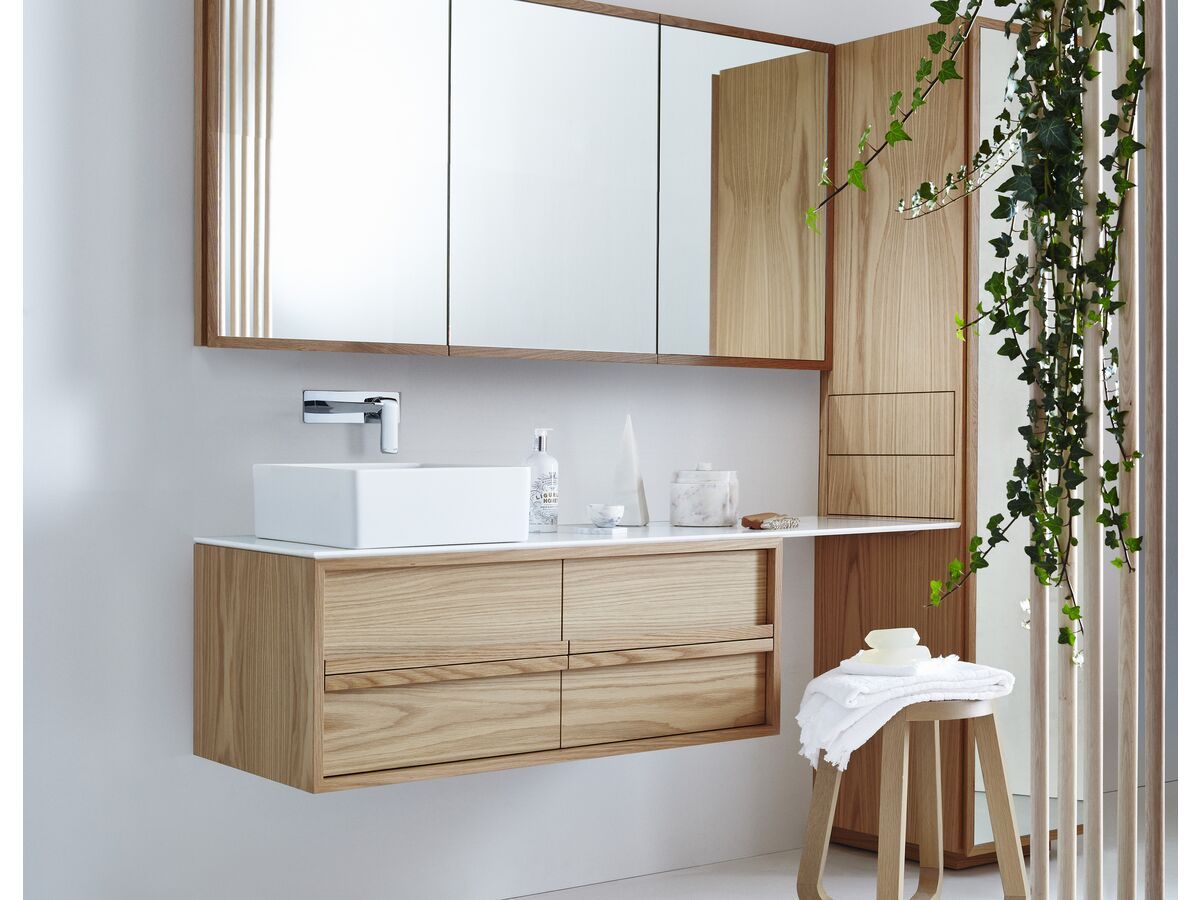 Issy Z8 Extended Top Vanity Unit, Shaving Cabinet and Tall Boy
