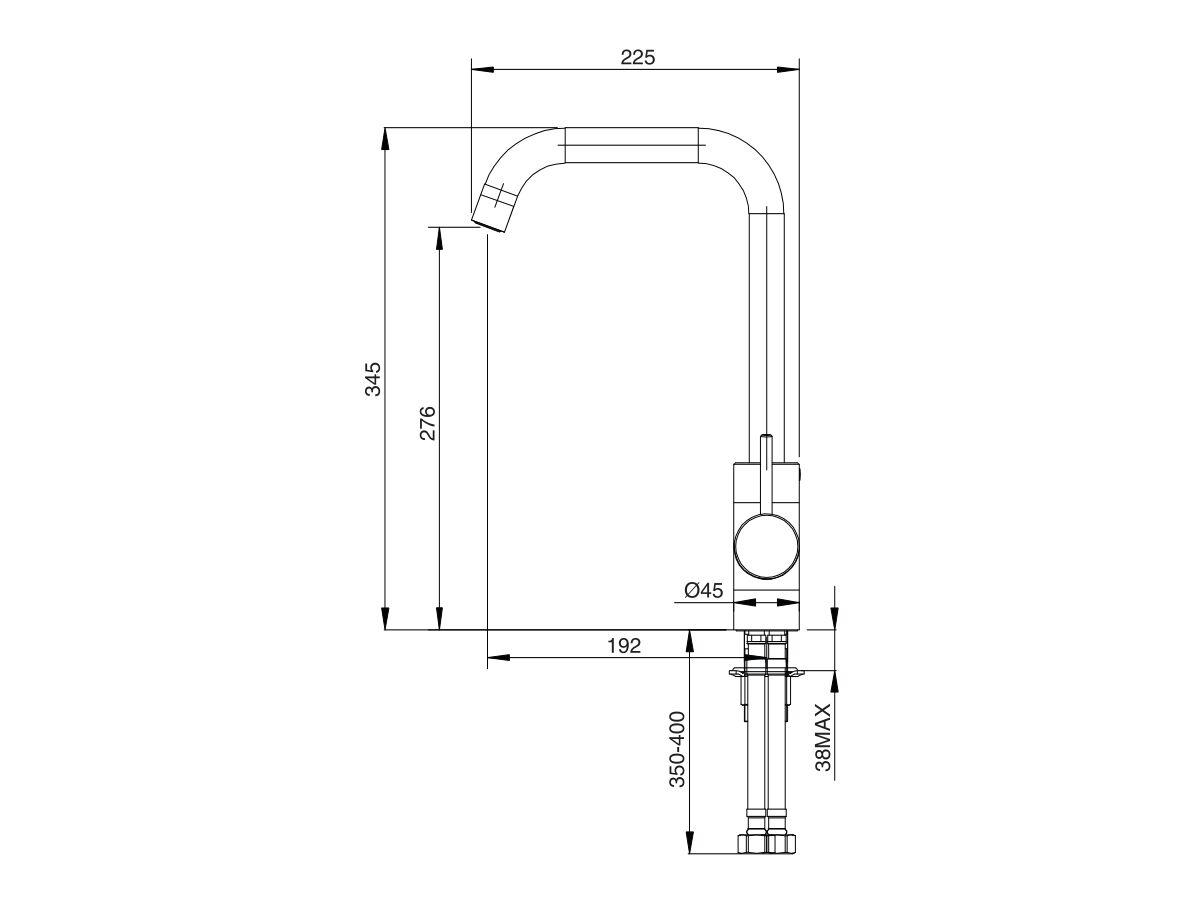 Mizu Drift MK2 Sink Mixer Square Outlet Chrome (4 Star)