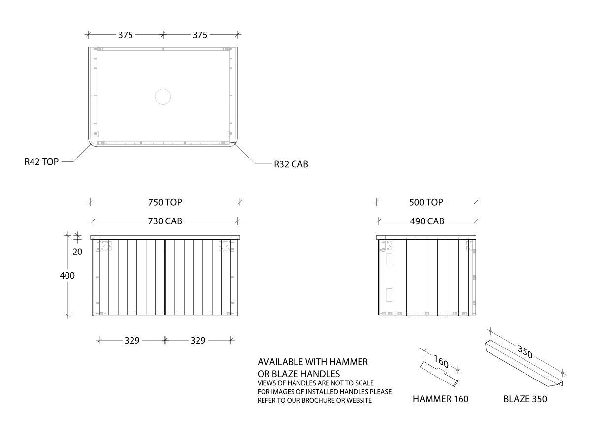 Kado Neue All-Door 750 Centre Bowl Wall Hung